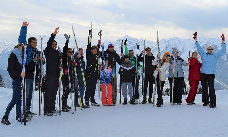Участники мастер-класса по беговым лыжам