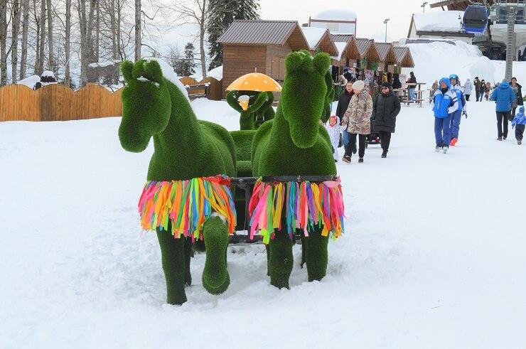 "Лошади в парке ""Зеленая Планета"""