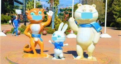 Леопард, Зайка и Мишка в медицинских масках