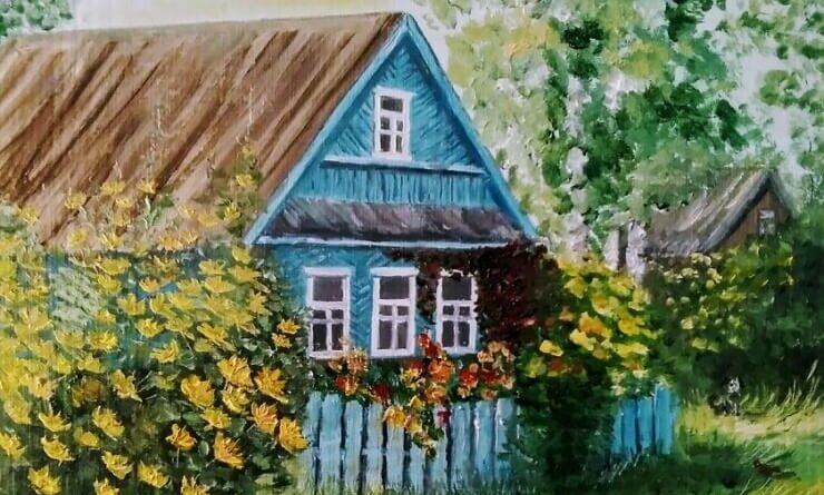 Домик, утопающий в цветах