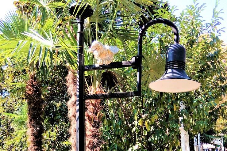 Ривьера. Ворона на светильнике