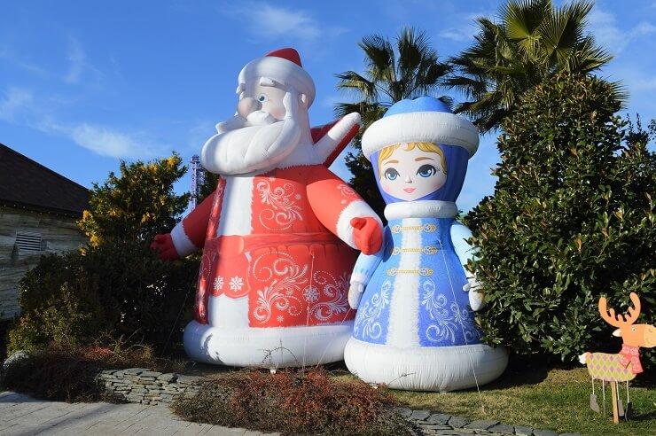 Дед Мороз и Снегурочка в Сочи Парке