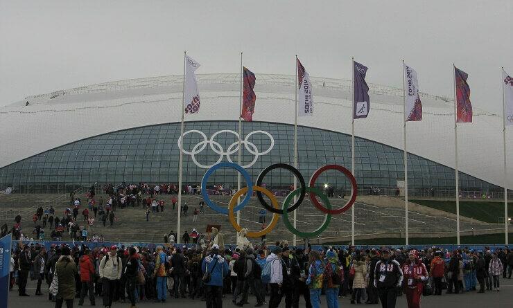 Олимпийский парк во время проведения Олимпийских игр