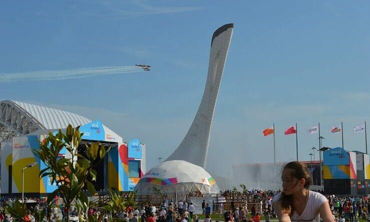 Авиашоу в Олимпийском парке