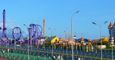 Вид на Сочи Парк с Олимпийского моста